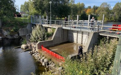 Boxwall test to withstand spillway of the water plant